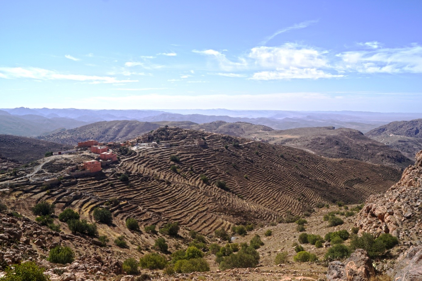 SGP Morocco Idaougnidif terraces Atlas Mountains