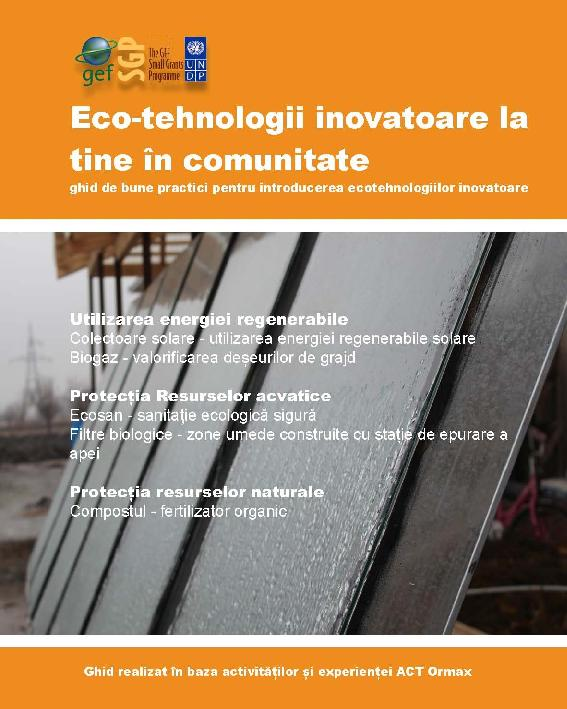 Innovative Eco-technologies in your community