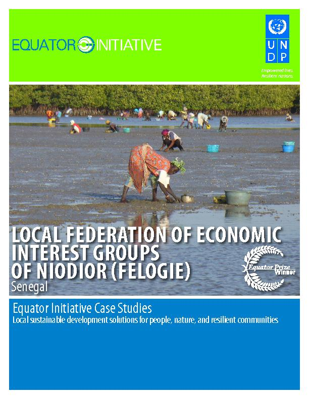 LOCAL FEDERATION OF ECONOMIC INTEREST GROUPS OF NIODIOR (FELOGIE)